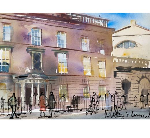 Print 2 – King's Inns Henrietta Street - The Honorable Society of King's Inns. In late 2014, King's Inns commissioned a renowned Irish based artist, John Short, to do a new King's Inns print series. Every print sold will be personally signed and numbered by the artist and hand embossed with the historic '1541' bronze seal of King's Inns. Dimensions for each print: 41.5inches by 21inches.