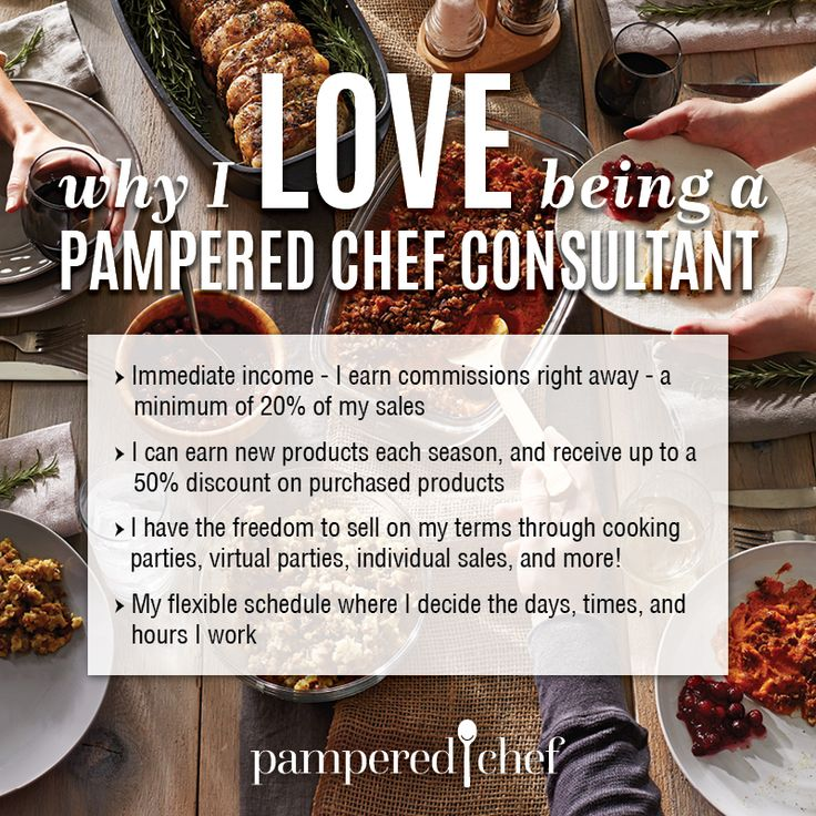 Life Tastes Great With A Pampered Chef Business! Freedom