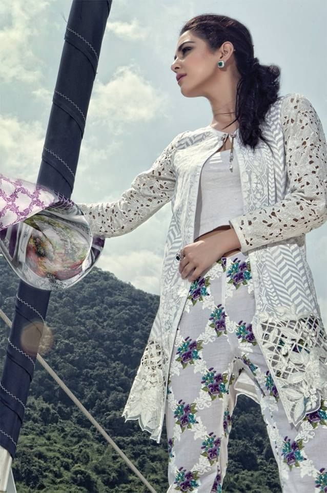 Maria B Summer Lawn Dresses is always much awaited summer collection that women wants because of designers embroidered patterns and high quality fabric this collection is always on top.