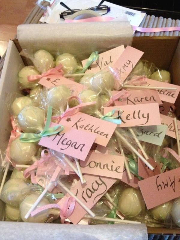Wedding cake pops by Cupcakes by Clare