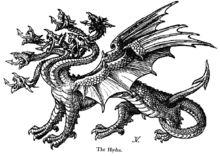 Heracles y su sobrino Yolao se cubrieron sus bocas  con una tela para protegerse del aliento venenoso.. disparó flechas en llamas al refugio del monstruo (la fuente de Amimone) para obligarle a salir. se enfrentó a ella con su espada a cortarle las nueve cabezas que tenía. Pero renacían sobrino le ayudó quemando el cuello  para que no  sin cabezas y Heracles mojó las puntas de sus flechas con la sangre de la Hidra para que así fueran mortíferas para quienes hiriese (Entre ellos Neso).