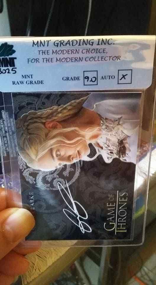Daenerys Targaryen Emilia Clarke Game of Thrones Graded MNT / INC Gem Mint 9.0