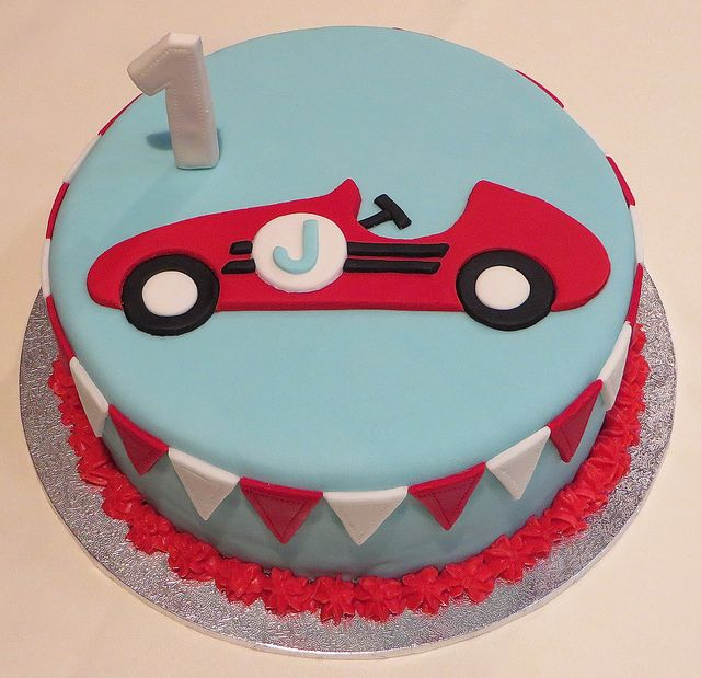 Vintage Race Car Cake | Flickr - Photo Sharing!