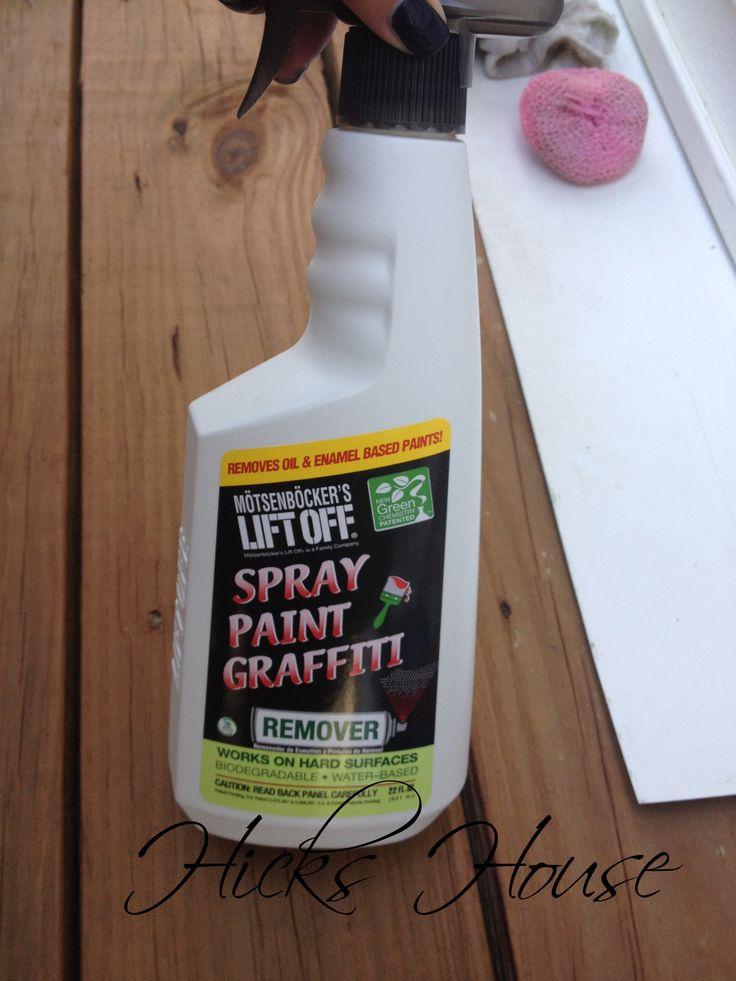 how to remove spray paint off vinyl siding