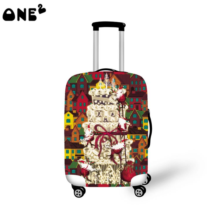 2016ONE2 colorful design modern stylish travel luggage cover cool pattern good quality 22,24,26 inch for suitcase student