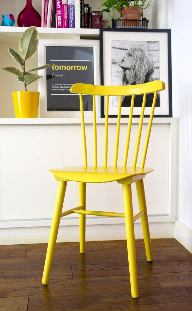 Makeover. A yellow nordic chair · Una silla amarilla de estilo nórdico | Dr. Livinghome. A modern DIY blog