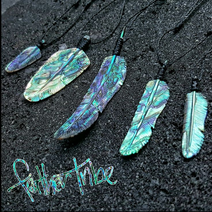 All of our hand carved Abalone Feather Necklaces area back in stock.  Join the tribe and represent with one now.