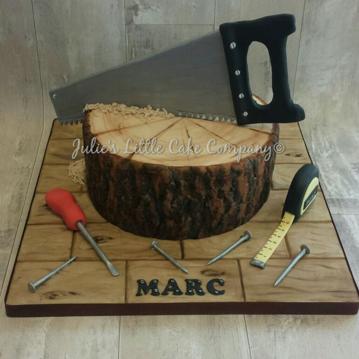Joinerwoodworking Themed Birthday Cake Fathers Day