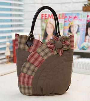 stylish ~ quilt tote bag ~