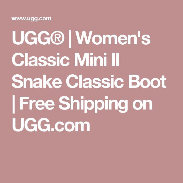 UGG® | Women's Classic Mini II Snake Classic Boot | Free Shipping on UGG.com