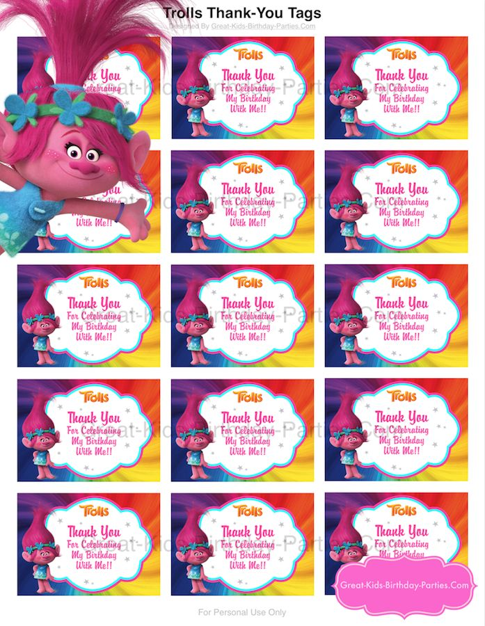 FREE Trolls Party Ideas Printables Find your happy