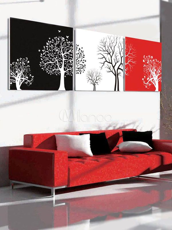 Simple Trees 3 Piece Decorative Wall Picture