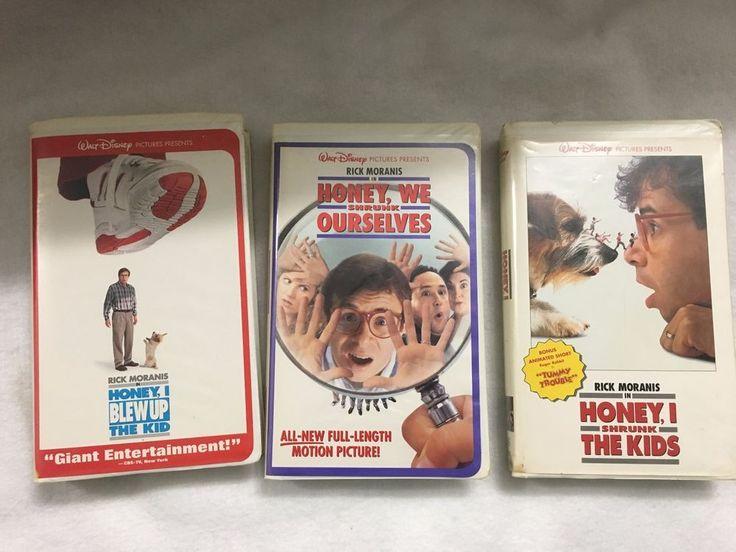 3 Disney VHS Tapes Honey I Shrunk The Kids(Ourselves) Honey I Blew up the Kids