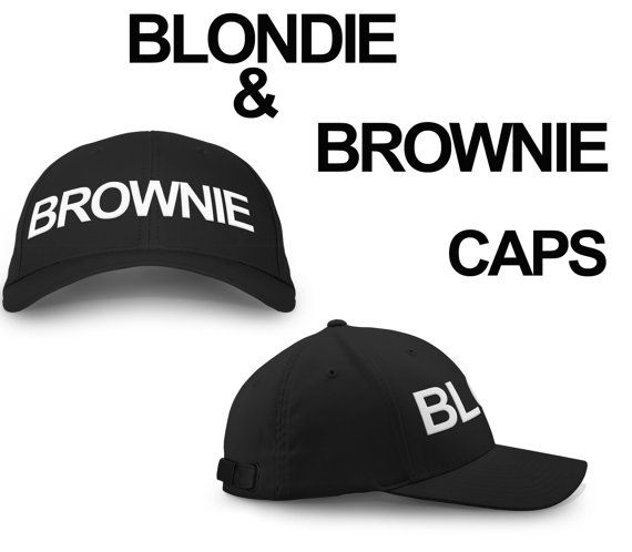 Blondie Brownie Hat Snapback Pair Fashion Printed #BlondieBrownieCap  by printtee10