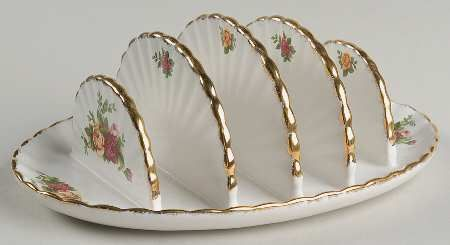Toast/letter Rack in the Old Country Roses pattern by Royal Albert China