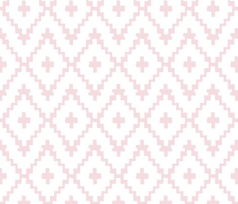 Southwest Diamond Chevron _Pink and White fabric by fable_design on Spoonflower - custom fabric
