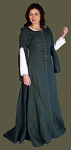 """14th-15th Century Linen Frontlaced Gown - Like these sleeves; """"fancy"""" gown, like this in different colors"""
