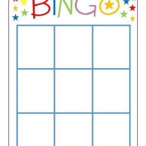 FREE printable blank BINGO card perfect for sight words, math facts, etc...awesome educational game for family game night!