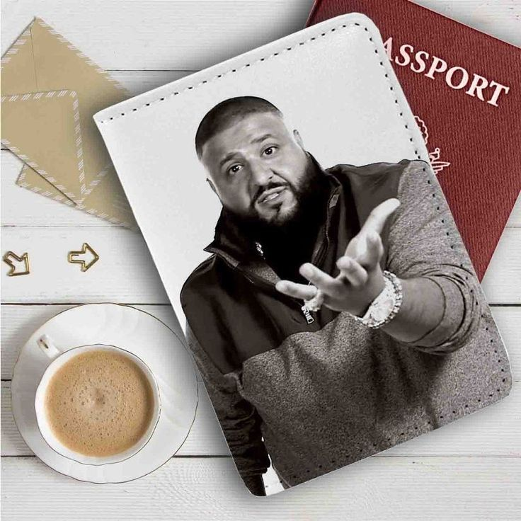 DJ Khaled Leather Passport Wallet Case Cover