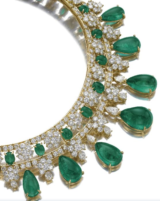 Emerald and diamond necklace, Van Cleef & Arpels. | More here: http://mylusciouslife.com/photo-galleries/bling-fling/