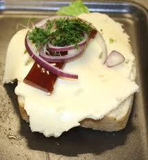 Smørrebrød med ost
