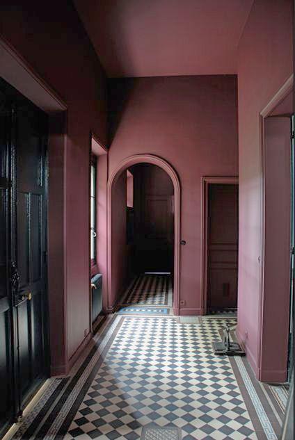 warm & graphic hallway