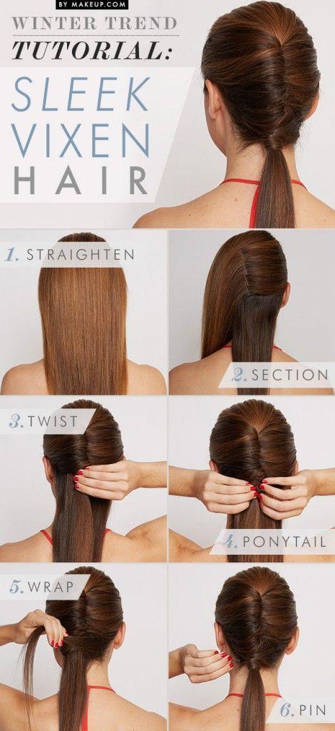 Sleek Vixen Hairstyle tutorial | Mix Fashion Orb