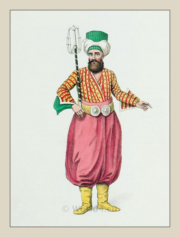Usher of the Sultan. Ottoman empire historical clothing