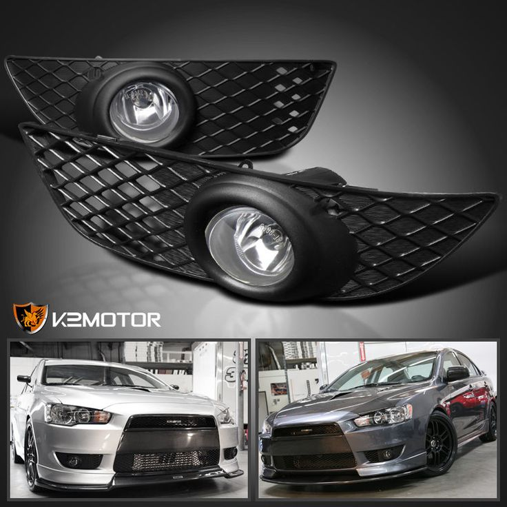 Cool Great 2008-2012 Mitsubishi Lancer Clear Bumper Fog Lights+Switch Kit 2017/2018 Check more at http://24cars.gq/my-desires/great-2008-2012-mitsubishi-lancer-clear-bumper-fog-lightsswitch-kit-20172018/