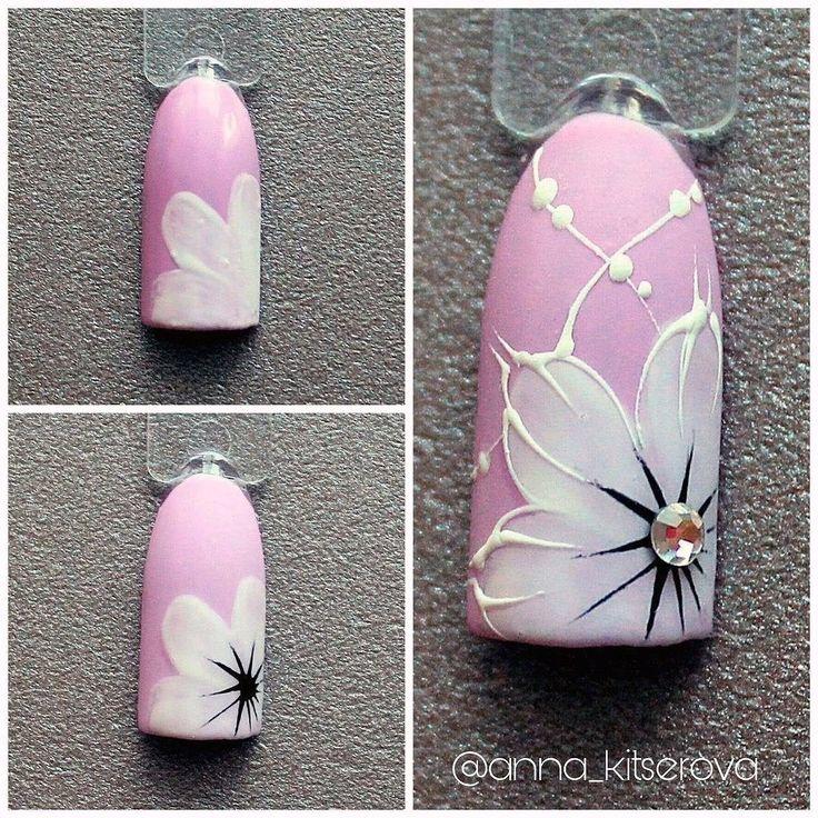 украшение цветы на ногтях пошаговое фото для начинающих кунцево снимался фильм