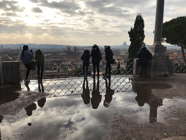 An inadvertent PSA from Romes drainage problem: Theres beauty (and humour) even in the defects. And the rain will stop and the sun will come out...eventually. Happy New Year wishes from Rome  #happynewyear #lookingahead #andiamoavanti #reflection #beauty #italogram #romaamoremio
