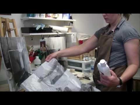Claudine Paquin - artiste techniques mixtes - transfert .capsule Vitamine art - YouTube