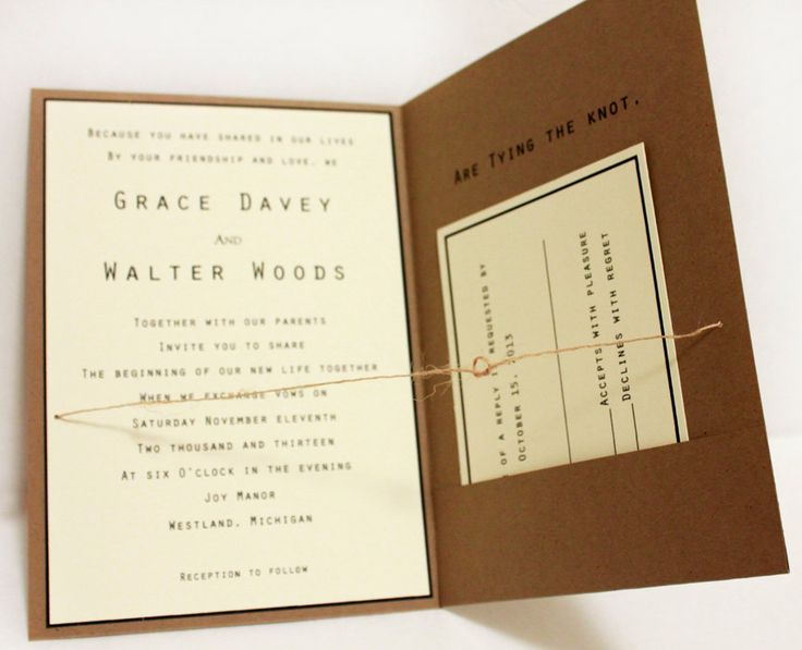 Rustic / Country Wedding Invitations