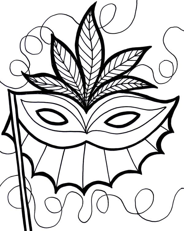 Mardi Gras Coloring Page Printable Book Sheet Online