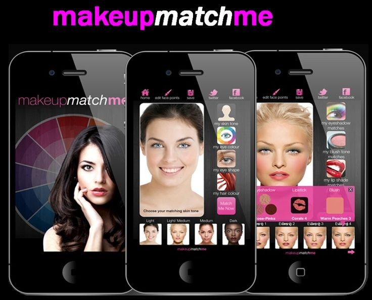 http://www.makeupmatchme.com/ sólo para iPhone