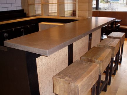 Kitchen Bar Top concrete bar top made for locali pizza bar & kitchen in new canaan