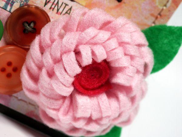 The 268 best nancy klersy images on pinterest wool felt feltro felt flower pattern template loopy felt flower tutorial lots of tips thefrugalcrafters mightylinksfo