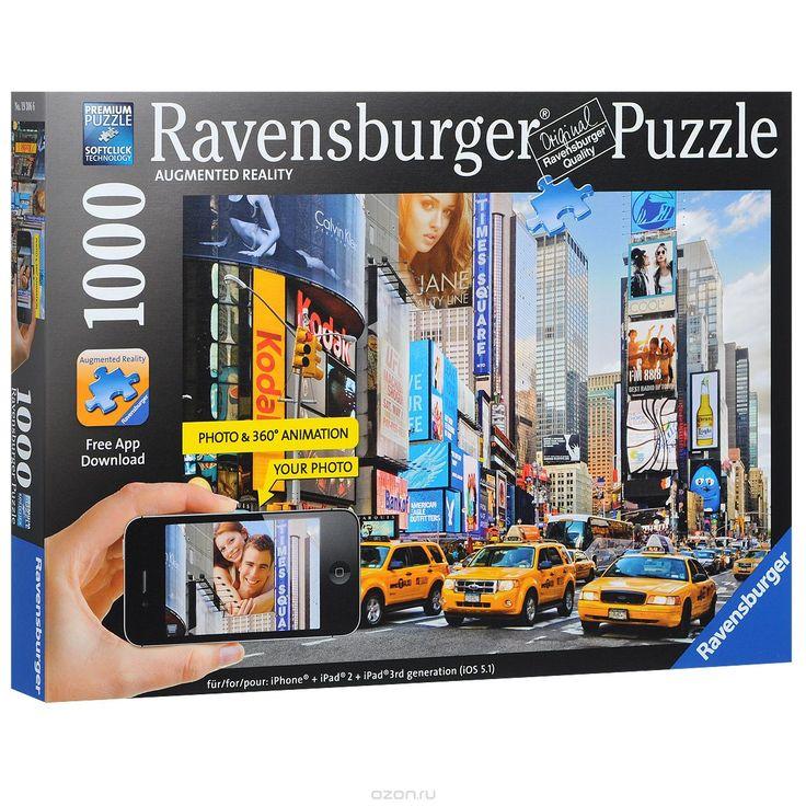 Купить Ravensburger Утро на Таймс-сквер. Пазл с видео-анимацией, 1000 элементов…
