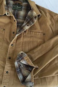 LL Bean Men's XL Tall Hurricane Snap Shirt Flannel Lined Duck Canvas  L/S
