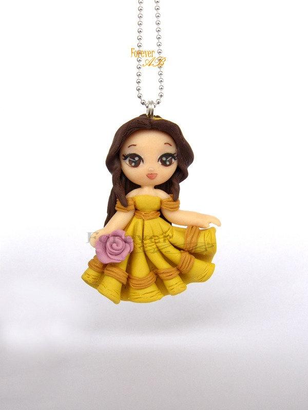 Collana Principessa 'Belle'-fimo, by Forever AB, 15,00 € su misshobby.com