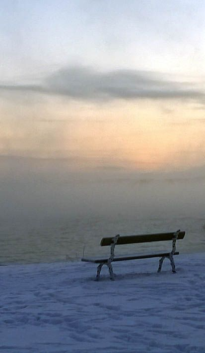 The sea is icing. Suomenlinna, end of December in 2014.