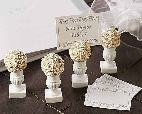 wedding favors new rose blossoms place cardphoto holder