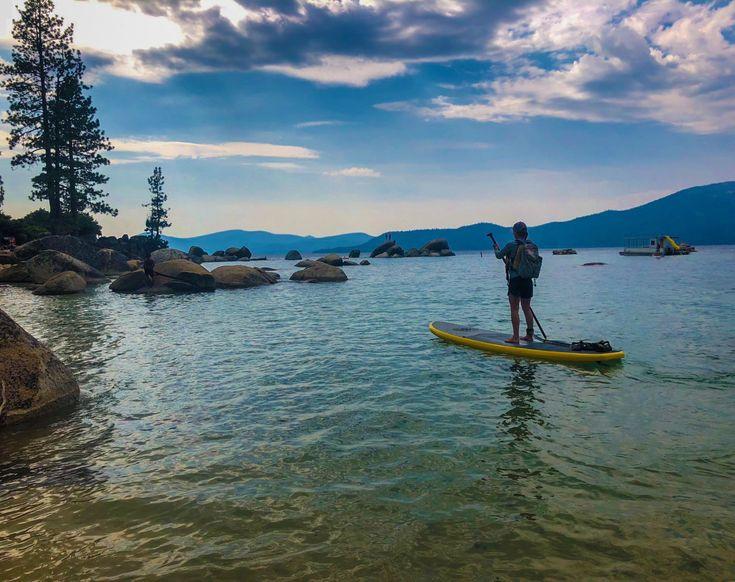 Paddleboarding lake tahoe in 2020 tahoe lake tahoe