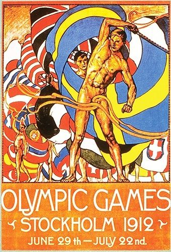 OLYMPICS: Stockholm, Sweden - 1912 | Medals: Sweden 65, United States 63. United States ranked 1st due to 25 gold medals. Sweden had 24. |  1916: No Olympics due to the European War.