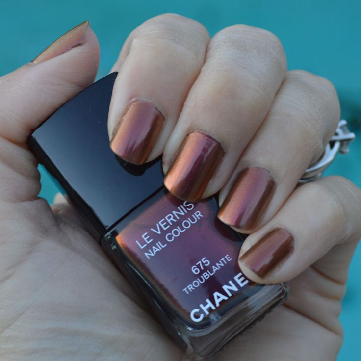 chanel troublante nail polish winter 2016 review #nailpolish #chanelnailpolish #nails #notd #beauty