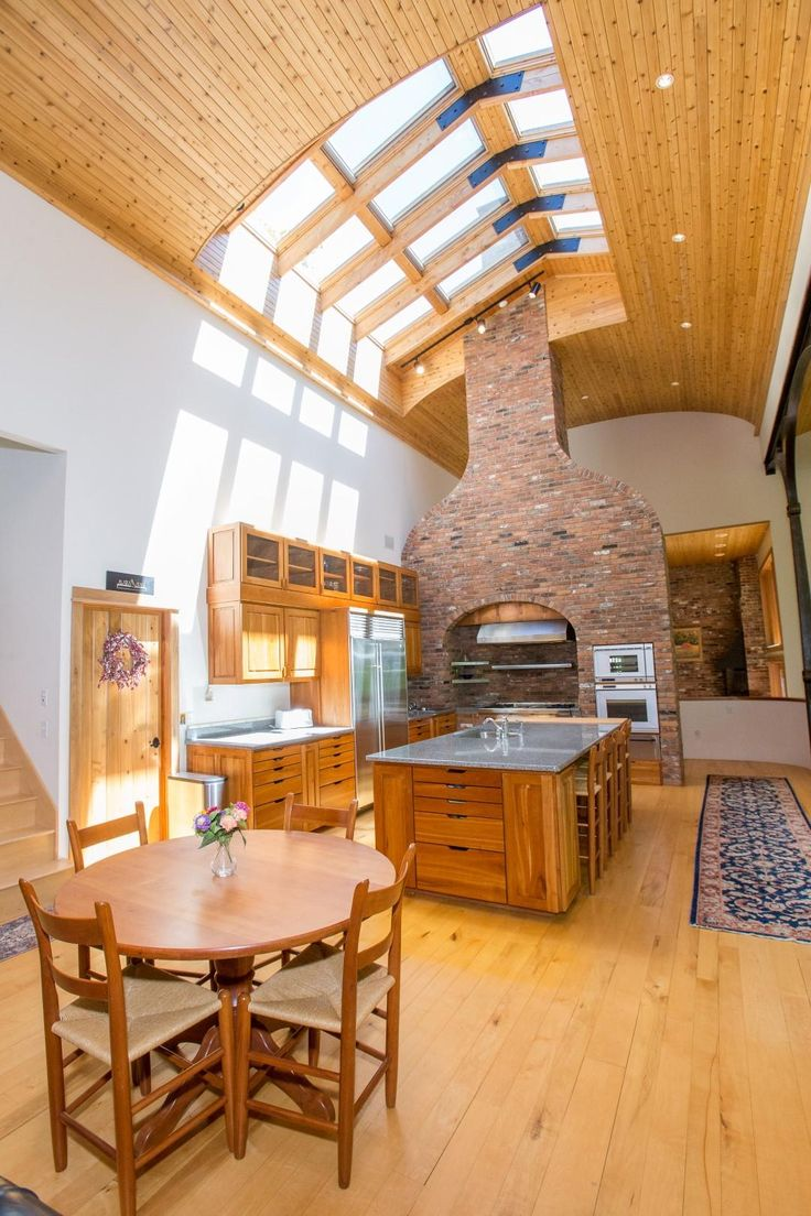 SPRUCE PEAK MOUNTAIN HOME   Vermont Luxury Homes   Mansions For Sale   Luxury Portfolio #rusticdecor #rustic #kitchen #fireplace