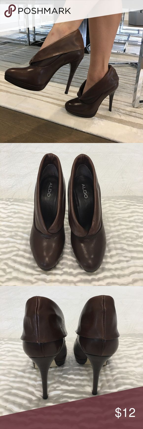 Brown Aldo boots Brown woman's aldo boots Aldo Shoes Heeled Boots