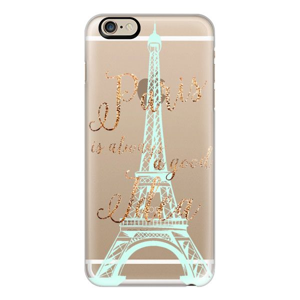 iPhone 6 Plus/6/5/5s/5c Case - I LOVE PARIS by Monika Strigel Faux... ($40) ❤ liked on Polyvore