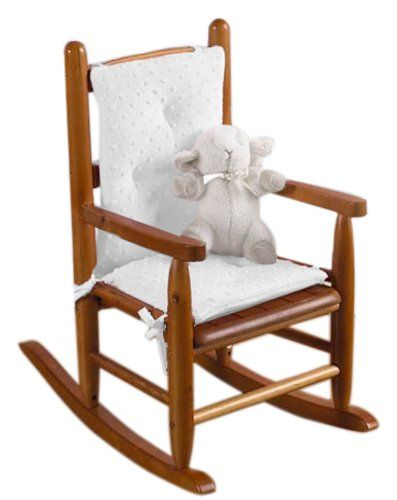 Baby doll bedding heavenly soft child rocking chair pad for White childrens chair