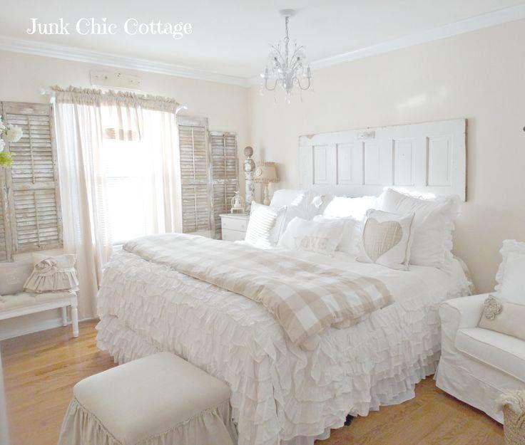 Sweet Shabby Chic Bedroom Decor Ideas Love The Door Headboard*